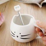 Tazza di caffè di ceramica della porcellana del regalo della dolomia della tazza di disegno creativo fine del gatto