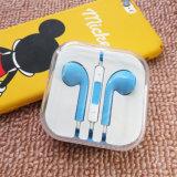 iPhoneのための多色刷りのヘッドホーンの耳のイヤホーン