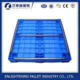 Palette en plastique plate de Rackable d'hygiène pour l'industrie alimentaire d'hôpital