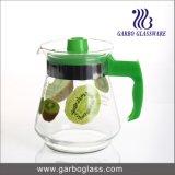 1.5L gedruckter Glaskrug, Wasser-Krug mit Plastikkappe u. Griff