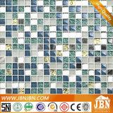 15X15/300X300mm 메시 거치된 돌과 유리제 모자이크 타일 (M815014)