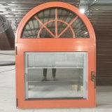 Guichet en aluminium d'interruption thermique avec le guichet en bois intérieur de revêtement