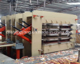 メラミン合板の熱い出版物機械を薄板にする熱い出版物機械