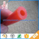 Kundenspezifische Größen-bernsteinfarbiges Latex-Gefäß/Zapfluftgefäß/Draht verstärkter Gummischlauch