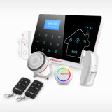 433MHz Wireless Wired GSM + PSTN + WiFi + sistema de alarme GPRS com cartão SIM SMS
