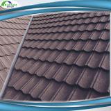 El azulejo de material para techos revestido del metal de construcción del material de la piedra caliente de la manera escalona tipos de azulejo de azotea del color