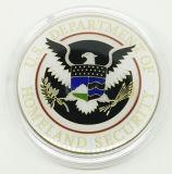 Moneda de prueba de encargo del recuerdo del metal precioso con la cápsula