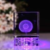 3D Ambacht van het Glas van de Kubus van het Kristal van de Laser voor de Giften van het Huwelijk van de Verjaardag (ks25218)
