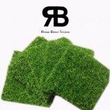 20mmの3/8inch反紫外線景色の装飾の庭のホームのための総合的な人工的な泥炭フィールド草