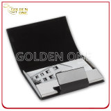 Multicolor Business Metal & Leather Case de cartão de nome