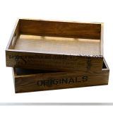 전시를 위한 작은 나무 상자 나무로 되는 쟁반