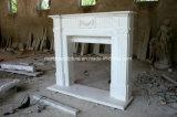 美しく安く優雅で自然で白い大理石の暖炉(SY-MF353)