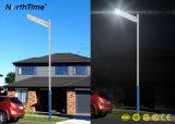 40W de infrarode Slimme LEIDENE van de Sensor van de Motie Straatlantaarn van het Zonnepaneel