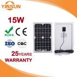15W PANNEAU SOLAIRE PV pour système de modules solaires