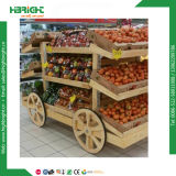 Супермаркет дисплей полки для фруктов и овощей