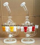 Tuyau d'eau en verre avec la main la fabrication du verre Pipe
