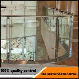 Есть балкон стекло Balustrade из нержавеющей стали, стеклянные стены, стекло поручень