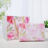 Envases de papel plegado de boda personalizado Caja de regalo