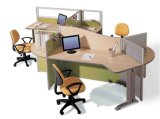 Mobilier moderne de bureau de conception simple Partition de bureau en verre (SZ-WST644)