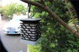 Lanterna Solar exterior travando velas LED de luz pátio com jardim no pátio à prova de luz