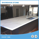 Pedra de quartzo Calacatta branco para contadores de cozinha