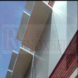 Slivoïde architecte métallique couleur aluminium revêtement mural/mur-rideau