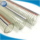 Claro de alta calidad Alambre de acero espiral de PVC reforzado de la manguera de combustible