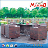 Напольное Wicker Rattan Dining Set для 6 Person