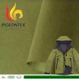 Enduit PU 228t Taslan nylon Tissu veste imperméable pour l'extérieur