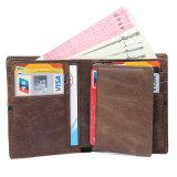 Горячая продажа низкая цена хорошего качества из натуральной кожи коричневого цвета бумажник кредитных карт RFID Wallet