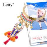 Colliers multicolores de mode de pendants de rapport de femmes de gland de Leiiy Boho