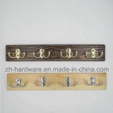 Hochwertiger schöner Kleidung-Haken hölzern u. Metallvorstand-Haken (ZH-7019B)