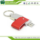 Business Gift Item Leather 8GB USB Stick with Free Logo