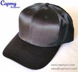 Черная фабрика шлема бейсбольной кепки сатинировки