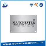 Dekorative Namensfirmenzeichen-Stahlplatte, die Teil mit Zink-Überzug stempelt