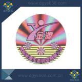 Het zilveren die Etiket van de Veiligheid van de Laser van de anti-Vervalsing van het Hologram van de Kleur in China wordt gemaakt