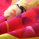 Ropa de algodón grueso de alta calidad de impresión digital lanzan Funda de almohada Volver Funda de cojín