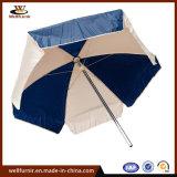 ombrello di Sun diritto del patio della spiaggia di marchio bianco blu del mercato 48 ' 2.4moutdoor