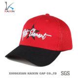 カスタム赤い刺繍6のパネルのトラック運転手の網の帽子