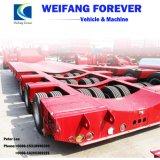 永久にWeifangの3車軸Lowboyまたは低いデッキまたは低い半ベッドのトラックのトレーラー