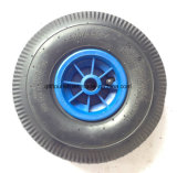 Roda de borracha do carro da ferramenta da roda 3.50-4 do caminhão de mão com borda plástica