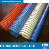공장에 의하여 생성된 PVC 호스, PVC는 호스를 땋았다