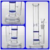 Tuyau d'eau du tuyau de verre avec double fonction Besr Honeycomb Perc meilleure base de Pipe en verre épais tubes de verre
