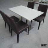 Quadrato bianco che pranza la mobilia di superficie solida del piano d'appoggio del pranzo per l'hotel