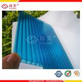 SGS Claro Verde Azul 6mm&8mm Folha de parede triplo de policarbonato