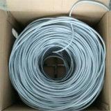 Cable Twisted al aire libre de interior 23AWG/24AWG de la red del cable 4pair de CAT6 UTP