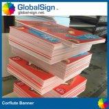印刷されたCorfluteの旗の表記を広告する製造業者
