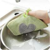 L'essuie-main de cuisine de Microfiber Anti-S'ébouillantent le chiffon avec un crochet