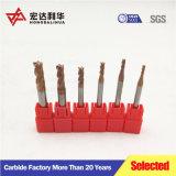 4-Flauta aplanadas de carburo sólido molinos de extremo personalizado disponible