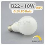 Garantie de 2 ans boîtier en aluminium et plastique 12W B22 baïonnette Ampoule de LED